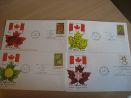 OTTAWA 1971 Yvert 456/8A The Maple Leaf Flora Tree Weather Meteorology Meteorologie 4 FDC Cancel Cover CANADA - 1971-1980