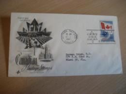 OTTAWA 1967 Yvert 377 Centenary Confederation Flag Flags FDC Cancel Cover CANADA - 1961-1970