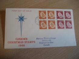 OTTAWA 1966 Yvert 375/6 Christmas Noel Hand Hands Stair FDC Cancel Cover CANADA - 1961-1970