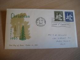 OTTAWA 1965 Yvert 367/8 Christmas Noel The Magi Tree FDC Cancel Cover CANADA - 1961-1970