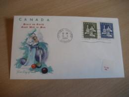 OTTAWA 1965 Yvert 367/8 Christmas Noel The Magi Virgin FDC Cancel Cover CANADA - 1961-1970