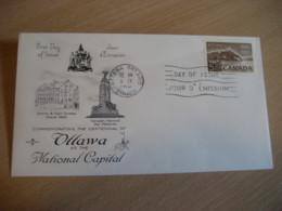 OTTAWA 1965 Yvert 365 Centennial Centenary National Capital FDC Cancel Cover CANADA - 1961-1970