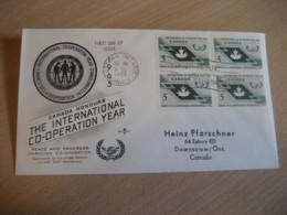 OTTAWA 1965 Yvert 361 International Co-operation Year FDC Cancel Cover CANADA - 1961-1970