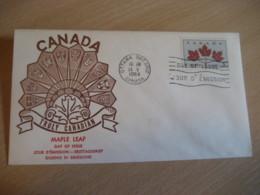 OTTAWA 1964 Yvert 342 Truly Canadian Maple Leaf Unity United Uni FDC Cancel Cover CANADA - 1961-1970