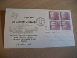 OTTAWA 1963 Yvert 333 Sir Casimir Gzowski Poland FDC Cancel Cover CANADA - 1961-1970