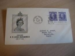 OTTAWA 1953 Yvert 265 Coronation QEII Royal Family Royalty FDC Cancel Cover CANADA - Omslagen Van De Eerste Dagen (FDC)
