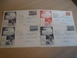 TORONTO 1951 Yvert 246/9 Stage Coach Ship Train Railway Plain Centenary Stamp On Stamp 4 FDC Cancel Cover CANADA - Omslagen Van De Eerste Dagen (FDC)
