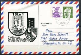 "Germany,Allemagne  1975  Luftpost Privatganzsache/Card Luftwaffe,Flugtag Mi.Nr.PP ??? Mit Tstp""Kaufbeuren ""1 Beleg - [7] Federal Republic"