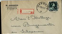 Doc. De HASSELT - B - Du 20/05/46 En Rec. - Poststempel