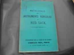Agriculture Catalogue Machine Rud Sack Semi  Charrue Catalogue Avec Illustration - 1800 – 1899