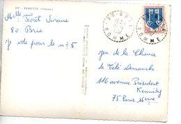 Sur CPSM, Cachet Postal BRIE  SOMME  1967 - Poststempel (Briefe)
