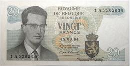Belgique - 20 Francs - 1964 - PICK 138a.1 - SPL - [ 2] 1831-... : Belgian Kingdom