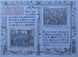 PTT/969 - 2013 - FRANCE - PRISE DE TOURNOËL / BATAILLE DE MURET - BLOC N°F4828 NEUF** - Ungebraucht