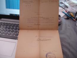 Commission Interalliee Plebiscite Haute Silesie 1920  Permission Membre - Historical Documents