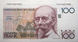Belgique - 100 Francs - 1982 - PICK 142a.4 - TTB+ - 100 Francs