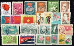 Vietnam, Michel # O 2 Steckkarten 51 Verschiedene Briefmarken - Vietnam