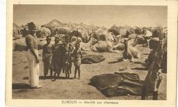 CPA, Djibouti , Marché Aux Chameaux ( Dromadaires ) , Ed. G.B. - Djibouti