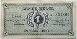 Belgique - 1 Franc - 1946 - PICK M1a - TTB - [ 4] Occupazione Belga Della Germania