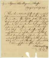 SAMUEL DE BARY & CO. Kaufleute 1807 Frankfurt Am Main Staufen Hugard - Historical Documents