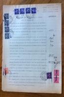 TORINO 16/1/1947 - ATTO DI CITAZIONE DOCUMENTO IN CARTA BOLLATA  E  CON MARCHE DA BOLLO  TIMBRI E FIRME - Historical Documents