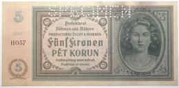 Bohême-Moravie - 5 Korun - 1940 - PICK 4s.1 - SUP+ - Banknotes