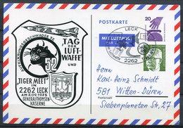 """Germany,Allemagne  1975 Luftpost Privatganzsache/Card Tag Der Luftwaffe Mi.Nr.PP ??? Mit SST""""Leck-Tiger Meet... """"1 Beleg - [7] Federal Republic"""