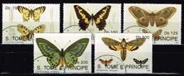 Sao Tome 1992, Michel # 1385 - 1389 O Butterflies (1992) - Butterflies