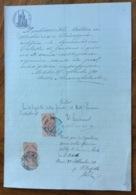 BITETTO (BARI) 30/11/1911 - DOCUMENTO IN CARTA BOLLATA  E  CON MARCHE DA BOLLO  TIMBRI E FIRME - Historical Documents