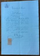 MUNICIPIO DI NOCI - BARI - 28/10/1896 - DOCUMENTO IN CARTA BOLLATA  E  CON MARCHE DA BOLLO  TIMBRI E FIRME - Documentos Históricos