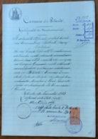 COMUNE DI BITONTO - BARI - 10/11/1903 - DOCUMENTO IN CARTA BOLLATA  E  CON MARCHE DA BOLLO  TIMBRI E FIRME - Documentos Históricos