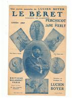 Partition Le Béret Chanson De Gascogne Paroles & Musique De LUCIEN BOYER Editions SALABERT De 1931 - Partitions Musicales Anciennes
