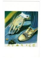 Ref 1365 - 1986 Artist Ashley Potter Modern Art Postcard - Avarice - Postcards