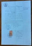 GRUMO APPULA - BARI - 13/12/1896 - DOCUMENTO IN CARTA BOLLATA  E  CON MARCHE DA BOLLO  TIMBRI E FIRME - Historical Documents