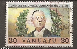 Vanuatu 1990 De Gaulle Obl - Vanuatu (1980-...)