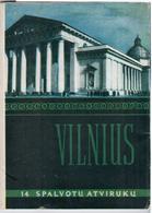Lithuania Lietuva USSR 1956 Set Of 14 Post Cards Of Vilnius City - Lituanie