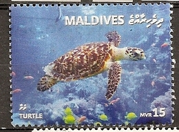 Maldives Tortue Turtle Obl - Maldivas (1965-...)