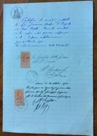 GIOIA DEL COLLE - BARI - 27/9/1900 - DOCUMENTO IN CARTA BOLLATA  E  CON MARCHE DA BOLLO  TIMBRI E FIRME - Historical Documents
