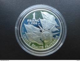1 FRANC B.E En ARGENT à 90 % De 1993 Du 50ème Anniversaire Du Débarquement Allié (USA) En Normandie - 22,2 Gr Pour 37 Mm - Commémoratives