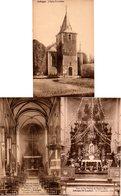 3 Cpa  Différentes Eglise St LAMBERT JODOIGNE 3 EUROS !!! PRIX FIXE !!! - Jodoigne