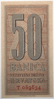Croatie - 50 Banica - 1942 - PICK 6a - NEUF - Croacia
