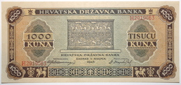 Croatie - 1000 Dinara - 1943 - PICK 12 - SPL - Croatia