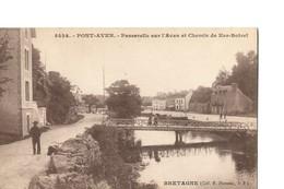 PONT AVEN (Finistère), Rare Vue De La Passerelle Sur L'Aven Et Chemin De Ker-Botrel - Pont Aven