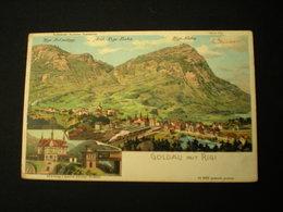 ARTH - RIGI-BAHN - BAHNHOF - GOLDAU - LITHO G. STEINMANN 1908 - Sonstige