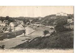 PONT AVEN (Finistère), Panoramas Des Quais - Le Couvent Et Ker-Botrel - Pont Aven