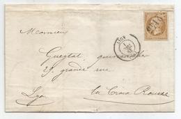 - RHONE - LYON - GC.2145 S/TP Napoleon III N°21 - Port Local + Càd Type 15 - 1865 - 1862 Napoleon III