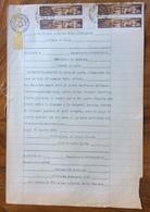 LUGO 25/1/1946 - DOCUMENTO NOTARILE CON TABELLIONATO IN CARTA BOLLATA CON MARCHE DA BOLLO - Historical Documents