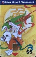AUSTRALIE  -  TELSTRA  -  1999 The Year Of The Rabbit  -  $ 5 - Australia