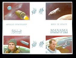 Yuri Gagarin,Apollo,Vostok Spaceship,Earth,Manama,Imp,MNH - Raumfahrt