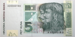 Croatie - 5 Kuna - 2001 - PICK 37a - NEUF - Croatie
