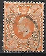 GRANDE BRETAGNE  /  U.K.    1909.   Y&T N° 122 Oblitéré.   Cote  18,00 Euros - 1902-1951 (Re)